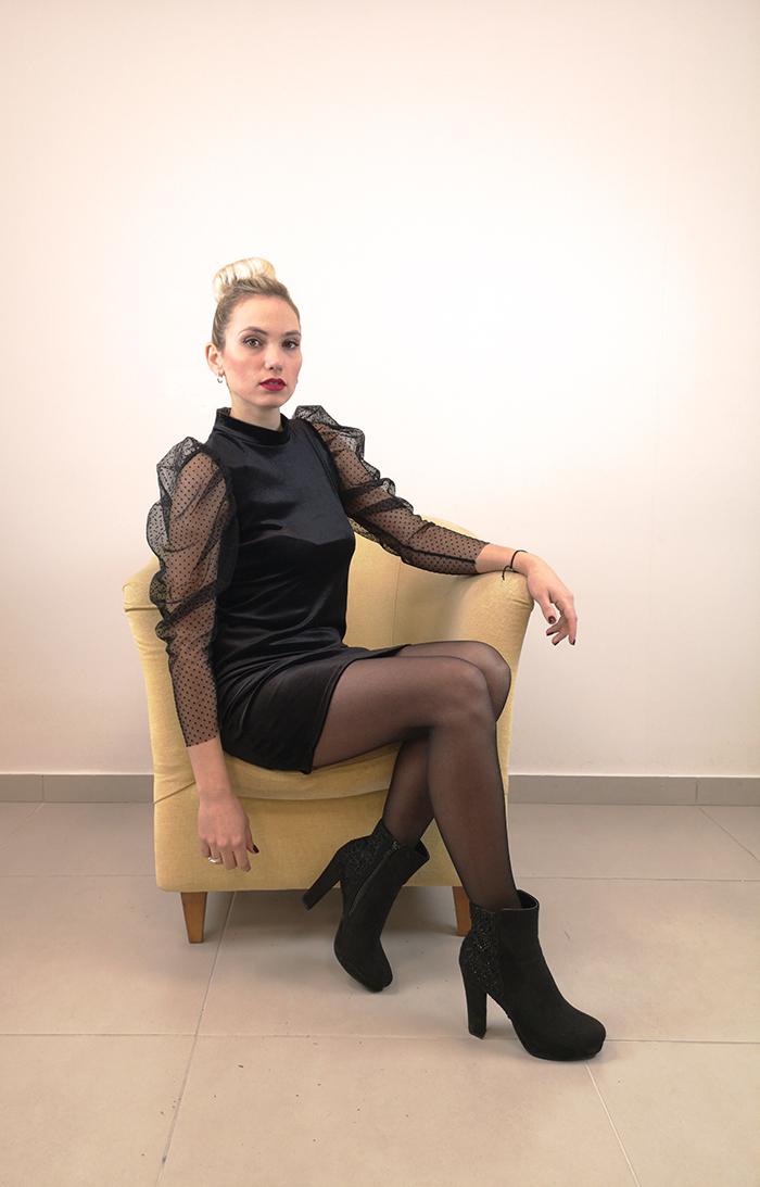 Φόρεμα μίνι βελούδο