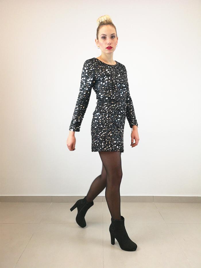 Φόρεμα mini παγέτα