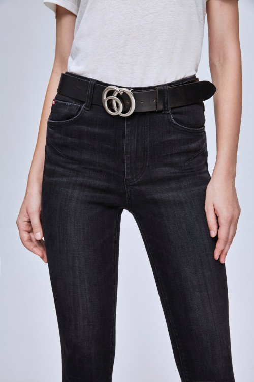 BLACK SUPER SKINNY JEANS WITH PUSH-UP EFFECT