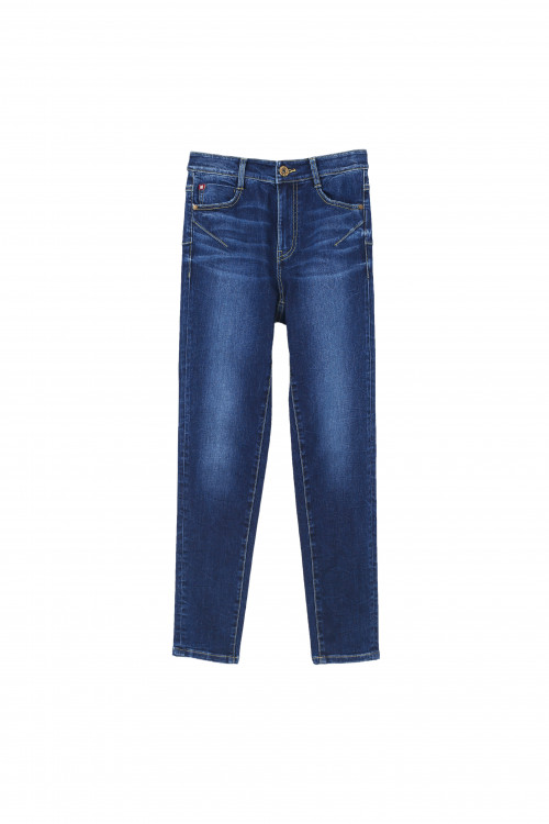 BLUE SUPER SKINNY JEANS WITH PUSH-UP EFFECT