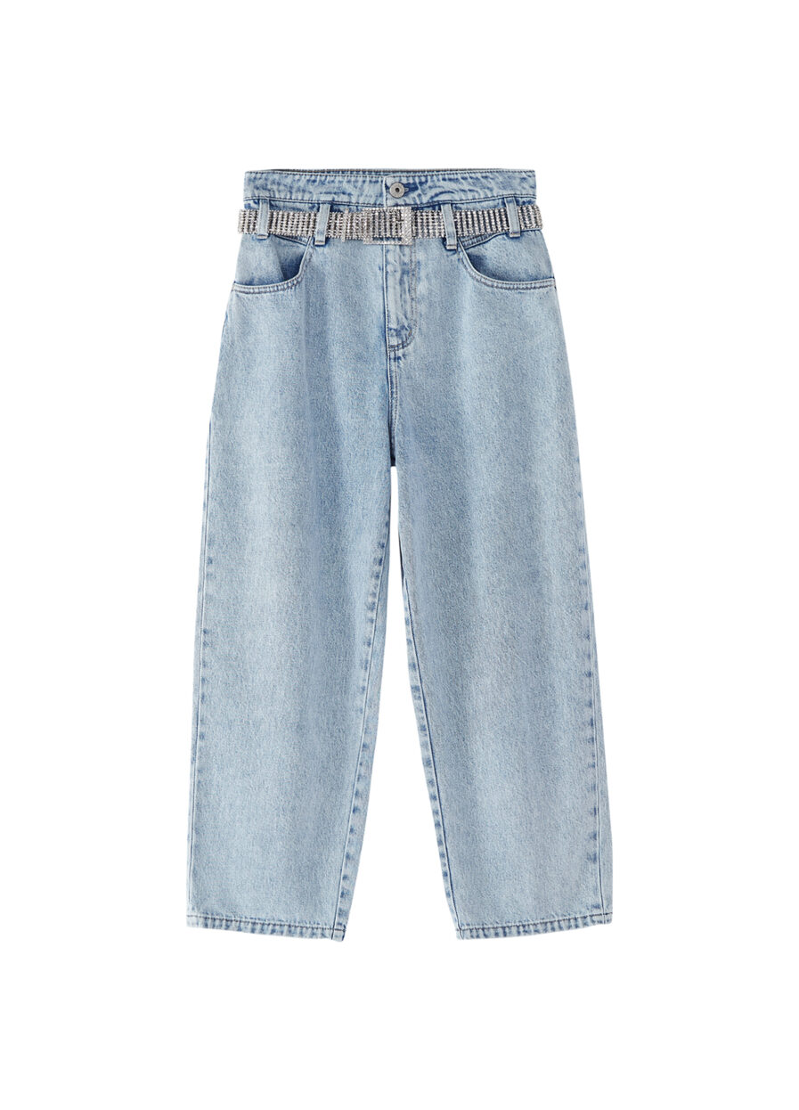 MISS SIXTY-CROPPED BALLOON JEANS