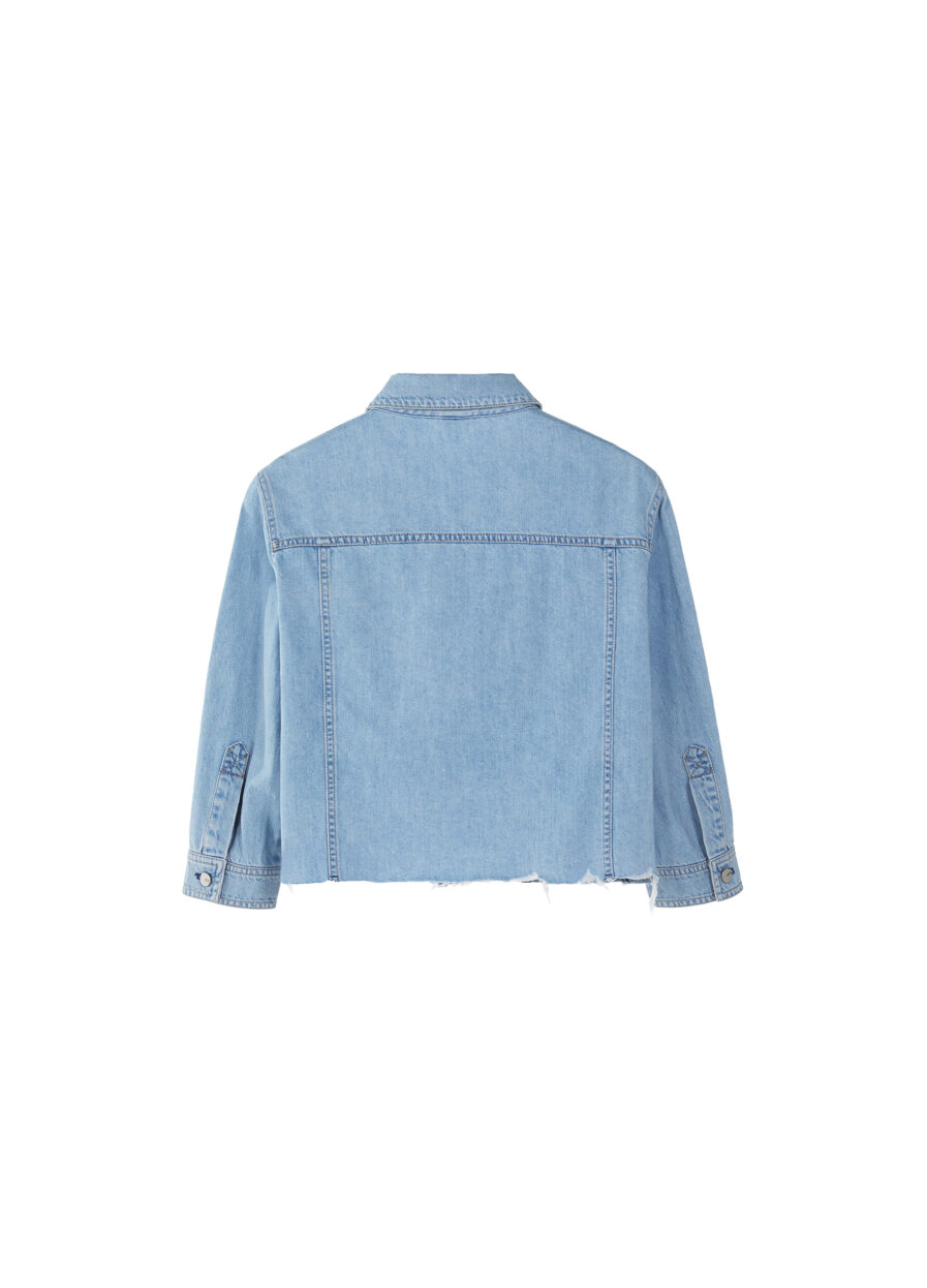MISS SIXTY-DENIM SHIRT WITH SEQUINED LOGO