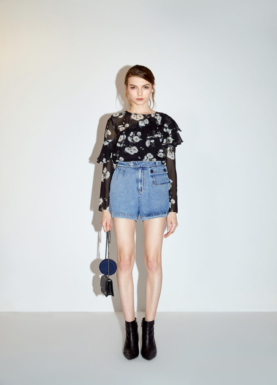 MISS SIXTY-SHORT DENIM TROUSERS WITH BIG POCKET