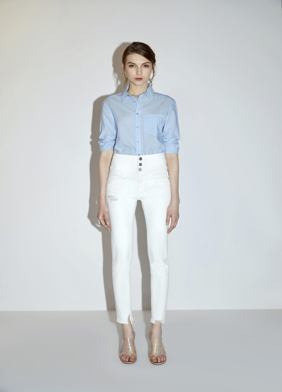 MISS SIXTY-WHITE SKINNY JEANS WITH HIGH WAIST