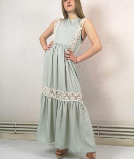 Φόρεμα maxi μέντα