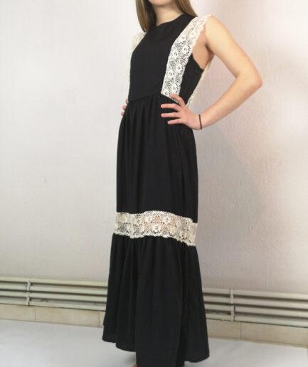 Φόρεμα maxi μαύρο