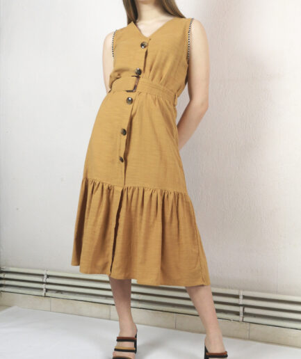 Φόρεμα rustic με κουμπιά
