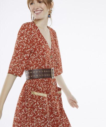 Φόρεμα midi σεμιζιέ