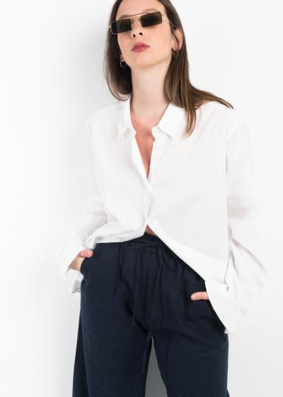 Παντελόνι λινό με λάστιχο στη μέση