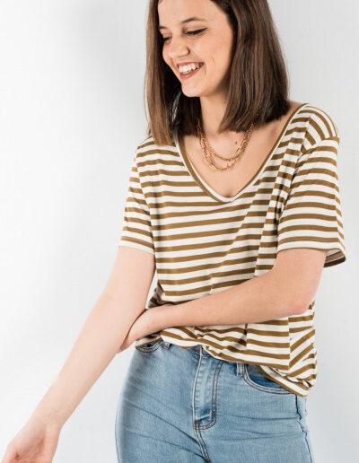 T-Shirt Basic με ρίγες
