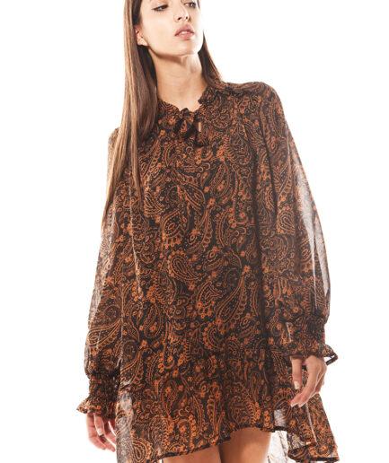 Μπλουζοφόρεμα με λαχούρια