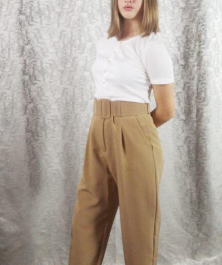 Παντελόνι υφασμάτινο με ζώνη