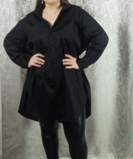 Πουκαμίσα-φόρεμα μακρύ μανίκι