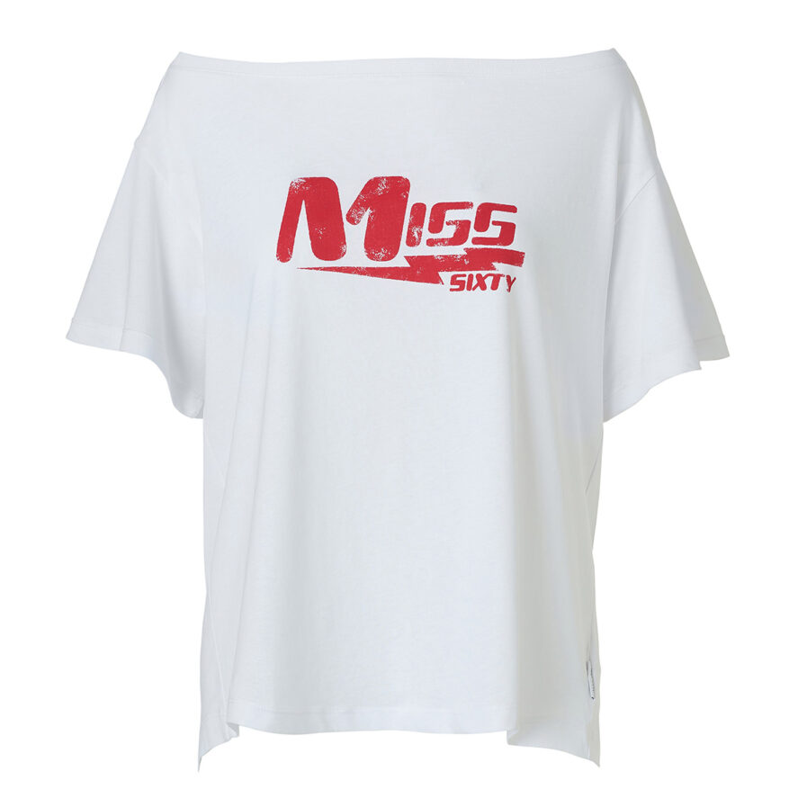 MISS-SIXTY-WHITE-T-SHIRT-WITH-CONTRASTING-LOGO