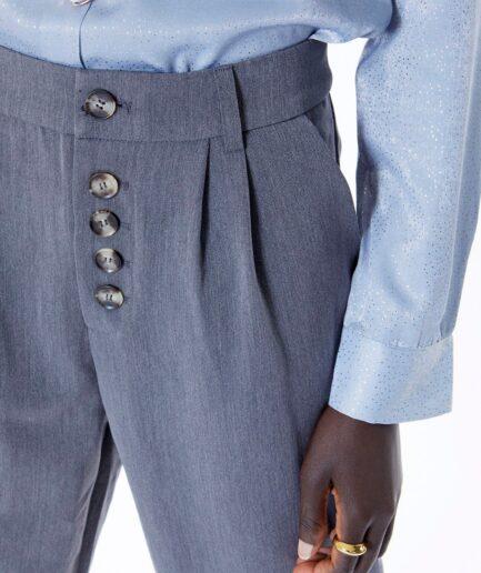 Παντελόνι γκρι με κουμπιά
