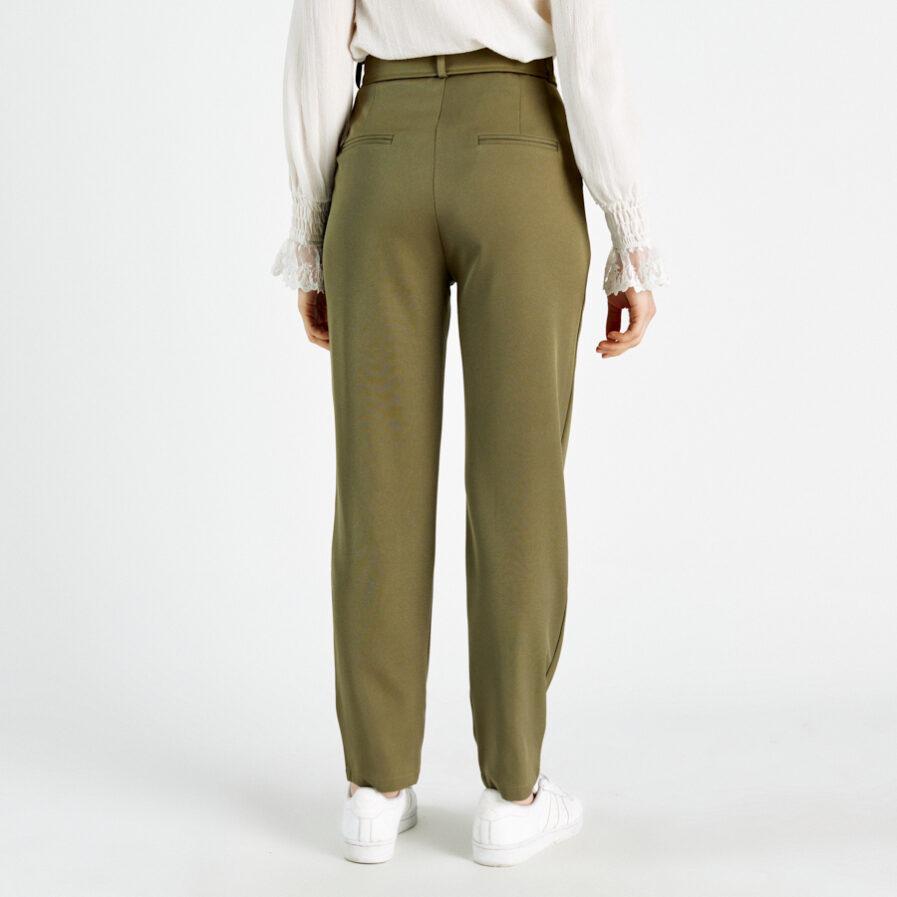 Παντελόνι χακί ψηλόμεσο