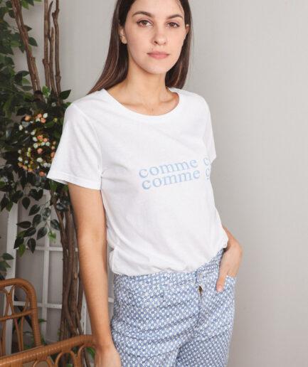 T-Shirt βαμβακερό Comme si
