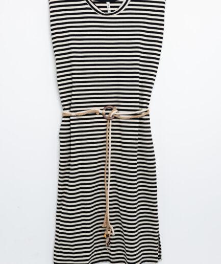 Φόρεμα midi μαρινιέρα