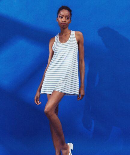 T-Shirt μαρινιέρα τιραντέ γαλάζιο