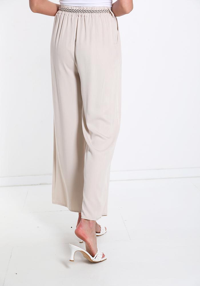 Παντελόνα βισκόζ με ζώνη