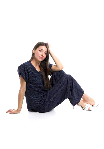 Σετ μπλούζα-παντελόνα από βισκόζη