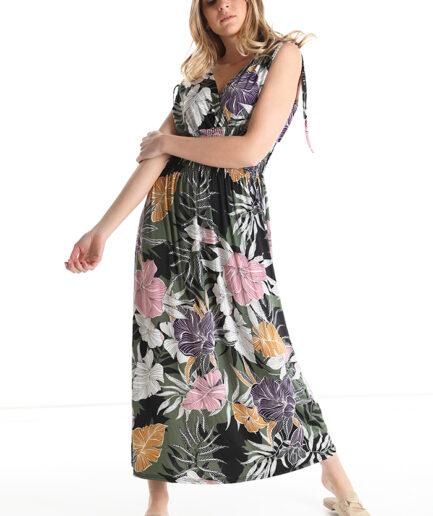 Φόρεμα maxi με λουλούδια