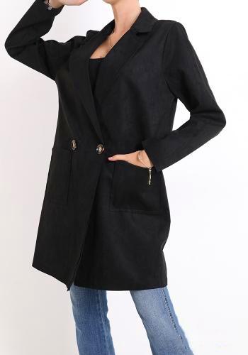 Παλτό κοντό suede